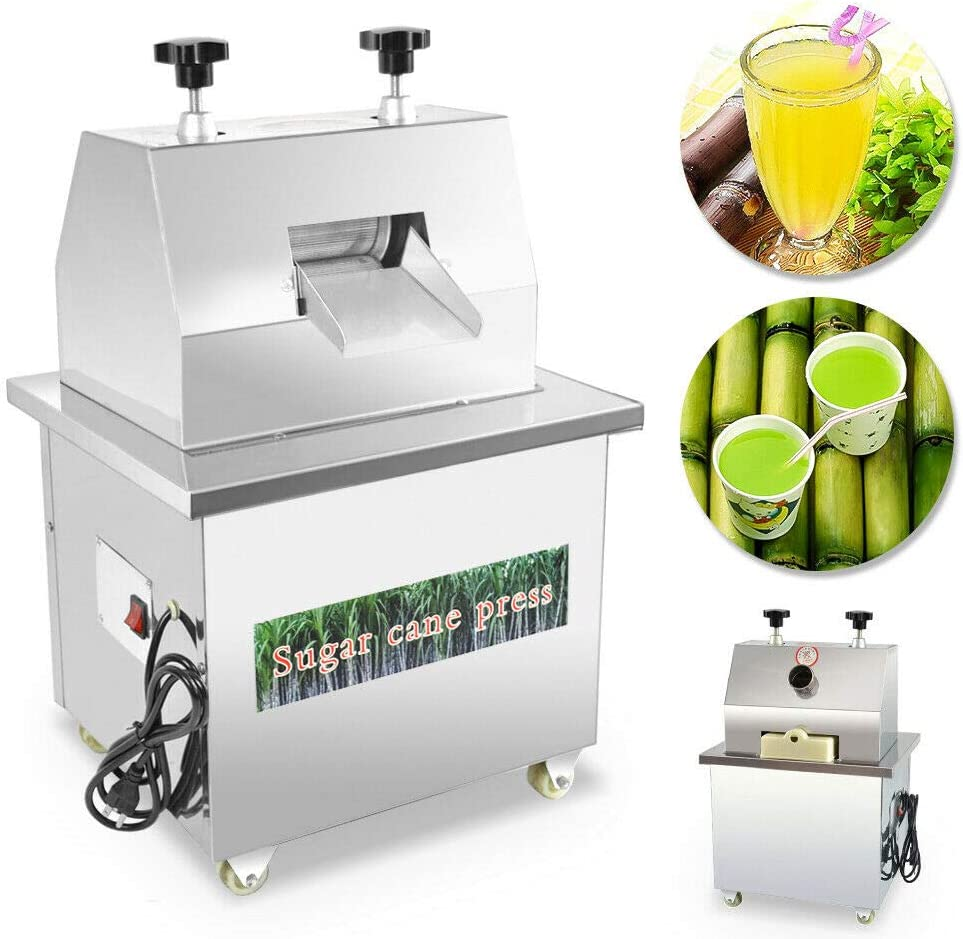 Commercial Electric Sugar Cane Juicer Stainless Steel Desktop Ginger for Juicing 110V 370W