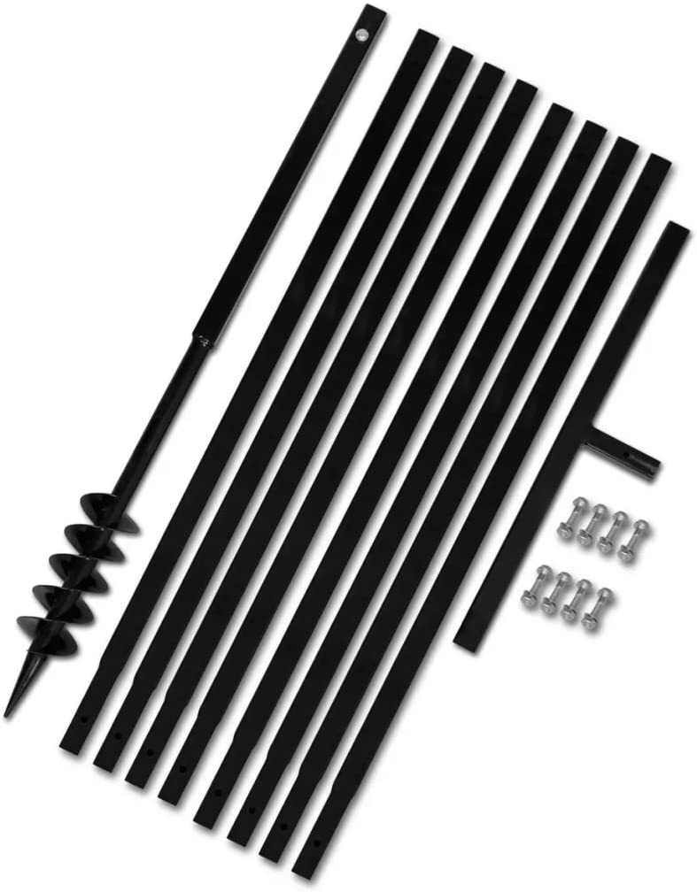 Tidyard Erdbohrer Handerdbohrer mit Griff 120 mm Verl/ängerungsrohr 17m Metall Bohrer Erdbohrer Set