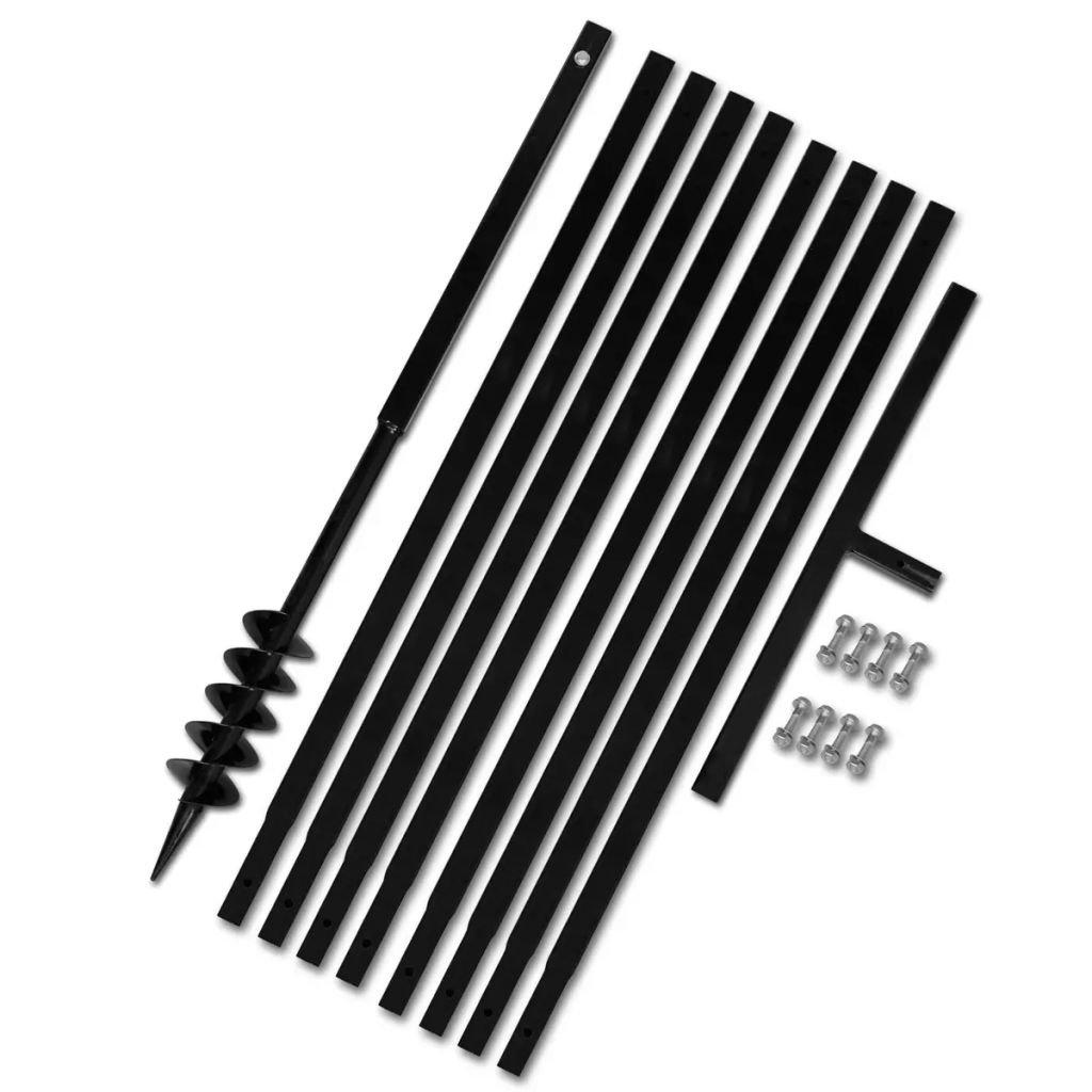 Erdbohrer Handerdbohrer mit Griff 80 mm Verl/ängerungsrohr 5 m Metall Bohrer Erdbohrer Set Tidyard