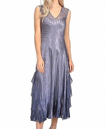 up-to-datestyling brand new modern techniques Komarov Womens Small Waterfall V-Neck Sheath Dress Purple S ...
