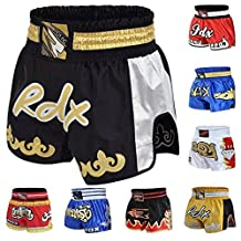 RDX Pro Muay Thai Fight Shorts MMA Grappling Kick Boxing Trunks Martial Arts