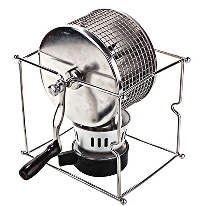 TTLIFE Manual Tostador de café en Grano 304 Acero Inoxidable Uso de la Mano Tostador de café con Quemador 300G en Grano de café Capacidad: Amazon.es: Hogar