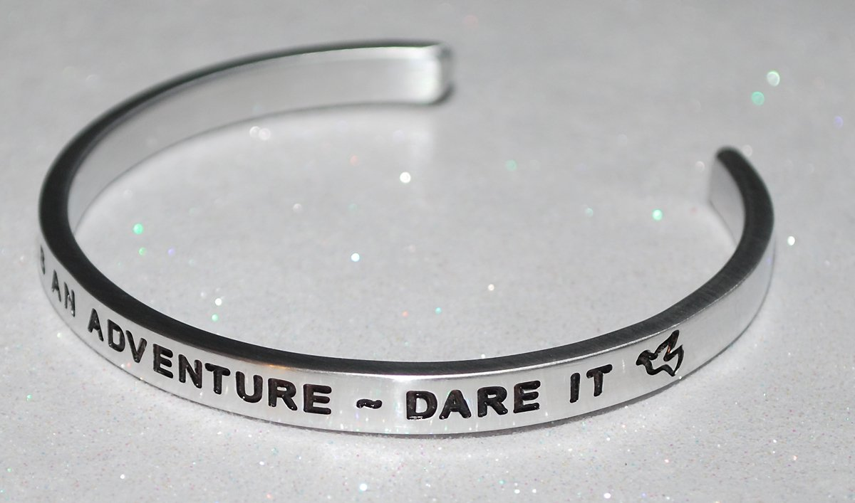 Life Is An Adventure ~ Dare It : Handmade /& Polished Bracelet