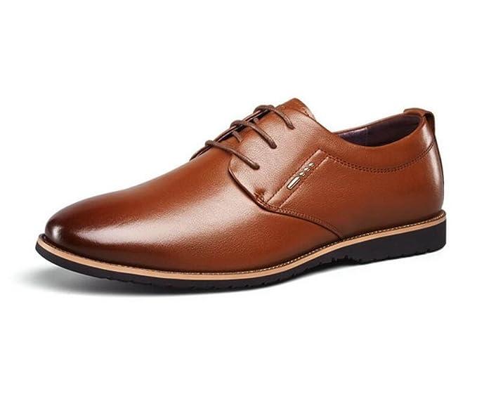 4f39da78b1b39 MUYII Zapatos De Vestir De Cuero Oxfords Para Hombres Zapatos De Cordones Casuales  Para Hombres Cómodos Antideslizantes Zapatos De Negocios Formales Para ...