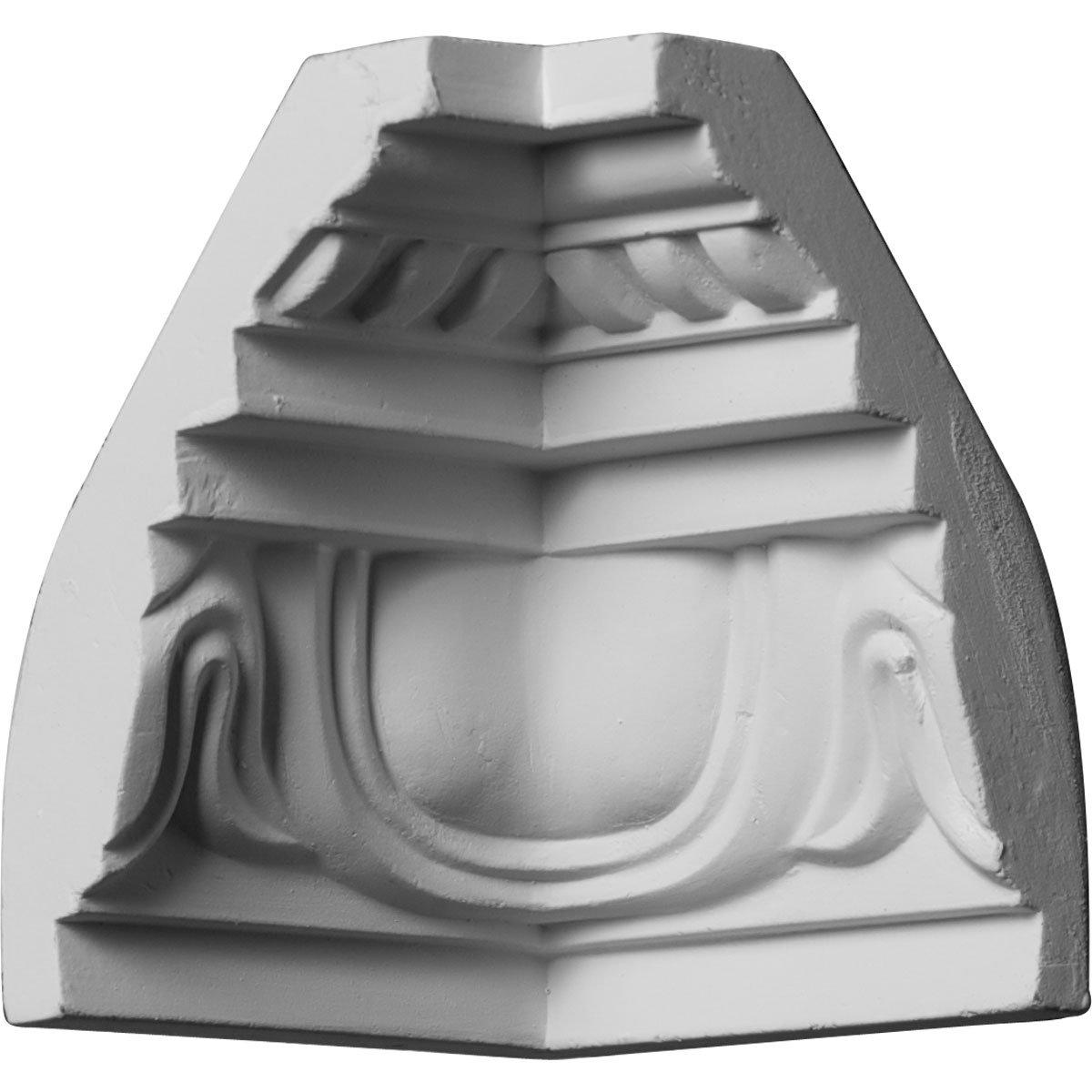 Ekena Millwork MIC03X04ED-CASE-4 3-1/4'' P x 4-1/2'' H Inside Corner for Molding MLD04X03X05ED (4-Pack)