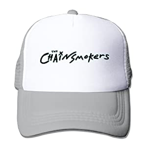 Adult The Chainsmokers Logo Adjustable Mesh Hat Trucker Baseball Cap Ash