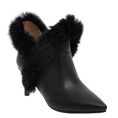 Women's Pointed-toe Mid Heel Winter Dress Boots