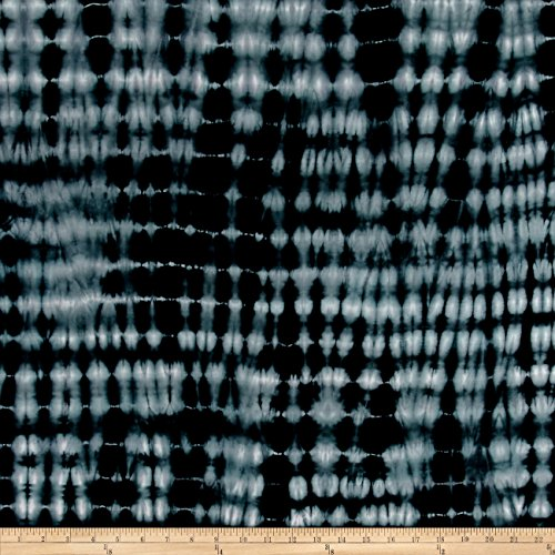 TELIO Shibori Rayon Bamboo Jersey Knit Stripe Black Fabric by The Yard