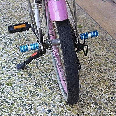 2 pinzas de aleaci/ón de aluminio antideslizantes para pedal de plomo BMX Negro Helaryfreemear 2