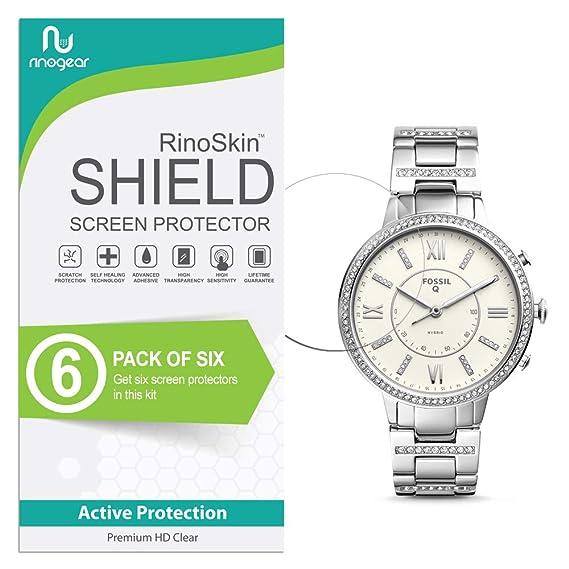 (6-Pack) RinoGear Fossil Hybrid Smartwatch Q Virginia Screen Protector Case Friendly Screen Protector for Fossil Hybrid Smartwatch Q Virginia ...