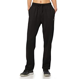BALEAF Women's Running Thermal Fleece Pants Zipper Pocket Athletic Joggers Sweatpants Adjustable Ankle Winter Track Pants Black Size XS