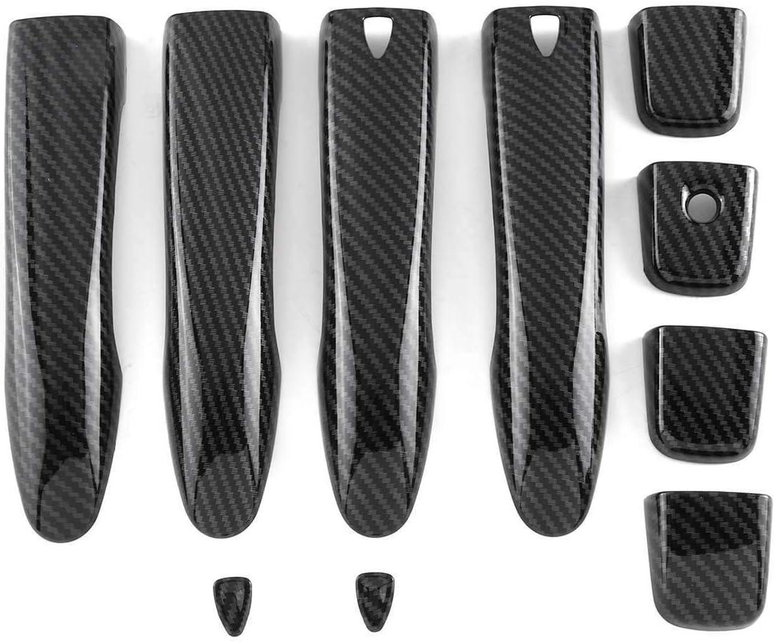 HCHD 8 st/ücke Kohlefaser Farbe ABS Auto Seitent/ür Griff Abdeckung Trim Aufkleber f/ür Nissan Qashqai Rogue X-Trail 2014 2015 2016 2017 2018