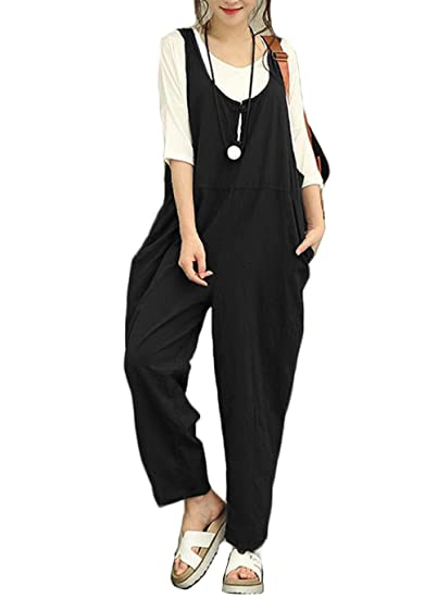 0e5e2b5c5d035 Image Unavailable. Image not available for. Color  Aedvoouer Women s Casual  Overalls Loose Jumpsuit Rompers ...