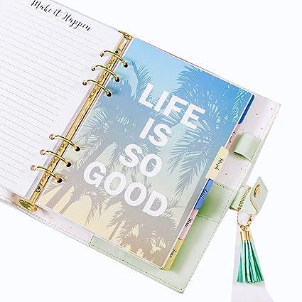 YWHY Cuaderno 2019 Bloc De Notas A5 Páginas Planificador ...