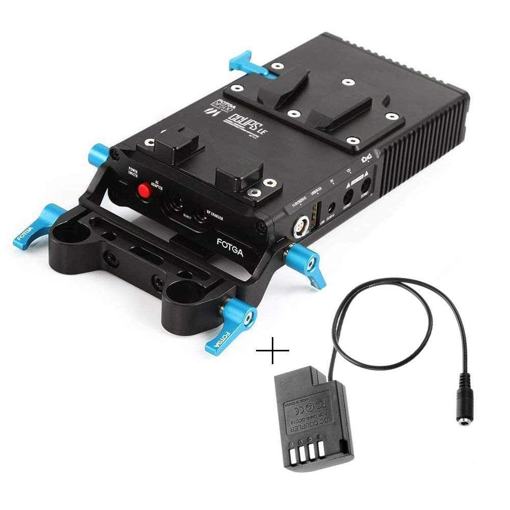 Fotga DP500 Mark III V-Mount V-Lock BP Battery Power Supply Plate with Dummy Battery Pack Adapter for Panasonic GH4 GH5 GH5s DSLR Camera 15mm Rod Rig by Run Shuangyu
