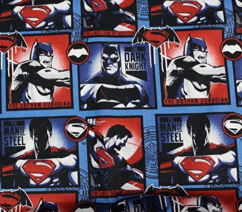 100% Cotton Fabric Quilt Prints DC Comics Batman vs Superman Block Edition Licensed Sold by The Yard N-Cotton-33-OT]()