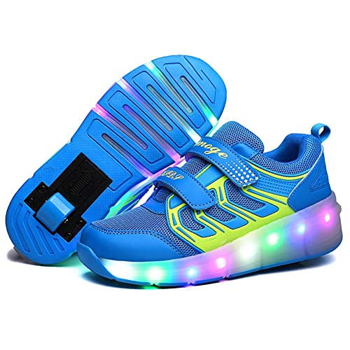 d39b7f3c Letao Led Luces Zapatos con Ruedas para Pequeños Niños y Niña Automática  Calzado de Skateboarding Deportes