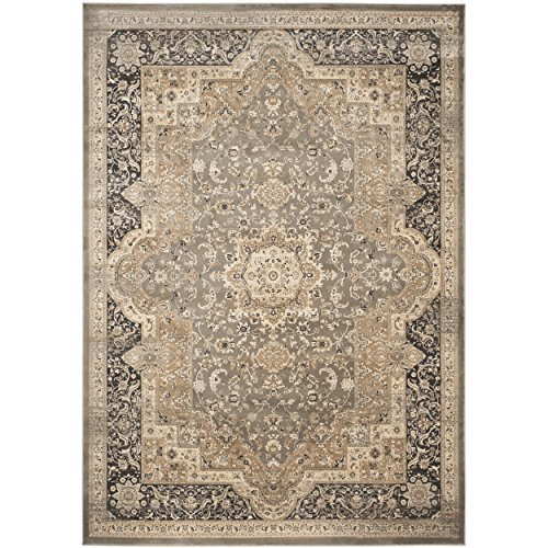 Safavieh Vintage Collection VTG574D Transitional Oriental Medallion Taupe and Black Distressed Area Rug (8' x 11') by Safavieh