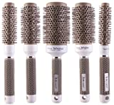Round Thermal Brush Set, Professional Nano Ceramic & Ionic Barrel Hair Styling Blow Drying Curling Brush, 5 Different Sizes Review