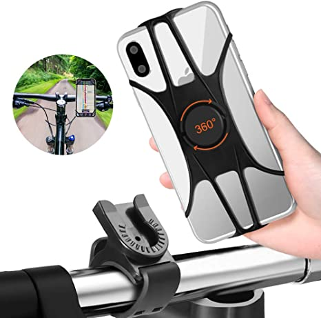 360/° Rotatable Motorcycle Phone Mount Bike Phone Holder Samsung Galaxy S10 Plus//S10//S10e Matone Bike Phone Mount Universal Adjustable Silicone Holder Compatible with iPhone XR//XS Max//X//8 Plus//7