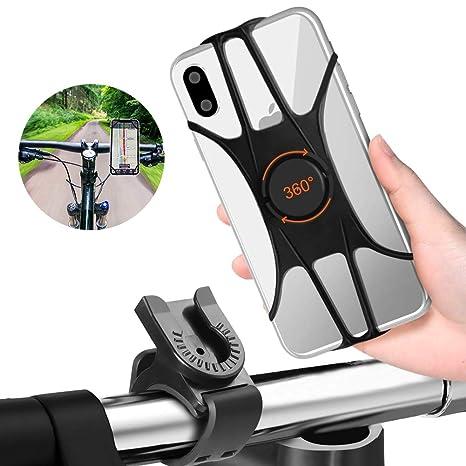FISHOAKY Soporte Movil Bici, Porta Movil Bicicleta, 360 Rotación ...