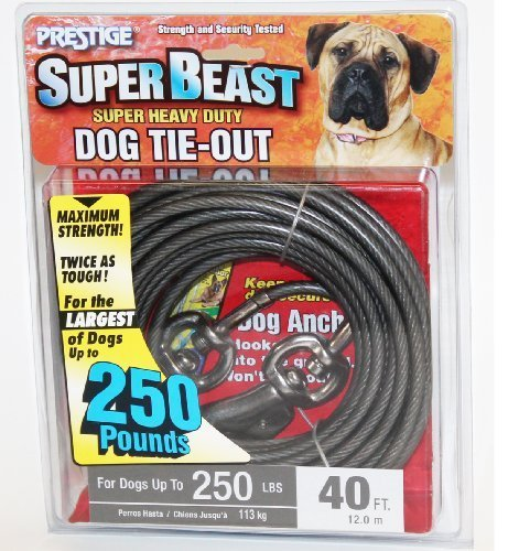 40 Super Beast Heavy Duty Tie-out for Dogs up to 250lbs by Pet Supplies Online