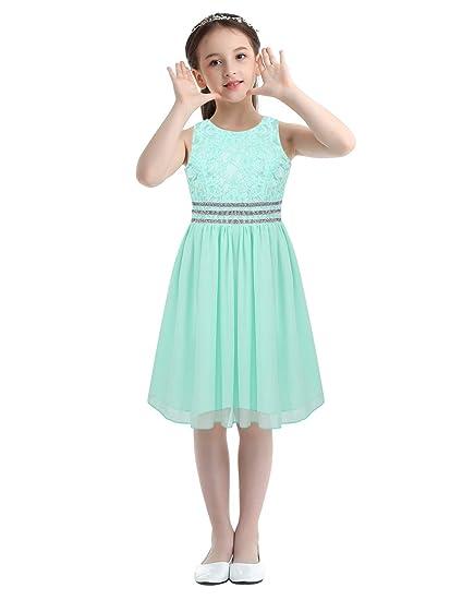 inlzdz Vestido de Fiesta Niña Corto Vestido Princesa de Gasa ...