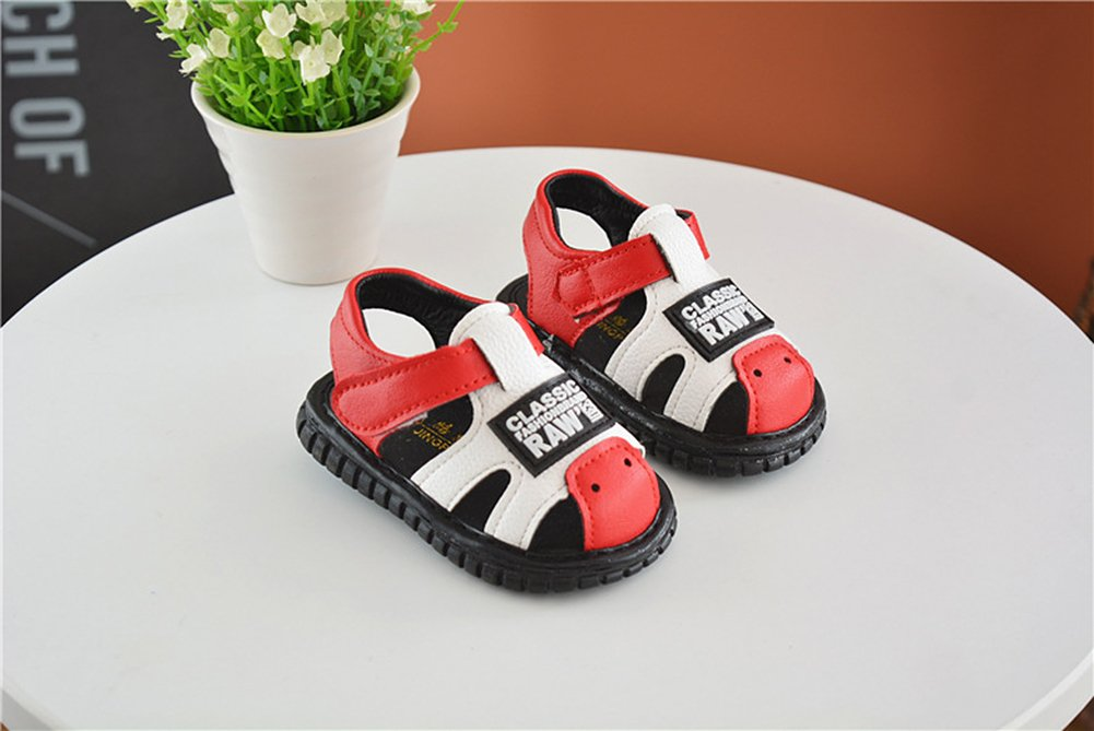 Robasiom Baby Squeaky Shoes Squeaky Sandals Anti-Slip First Walkers for Toddler Boys Girls,Red by Robasoim (Image #3)