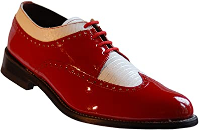 Amazon Com Stacy Baldwin Red And White Wingtip Spectator Shoes All