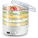 Sunix Food Dehydrator,5-Tray Electric Dehydrators for Food and Jerky,BPA-Free Fruit Dehydrator with Temperature&Timing Contro