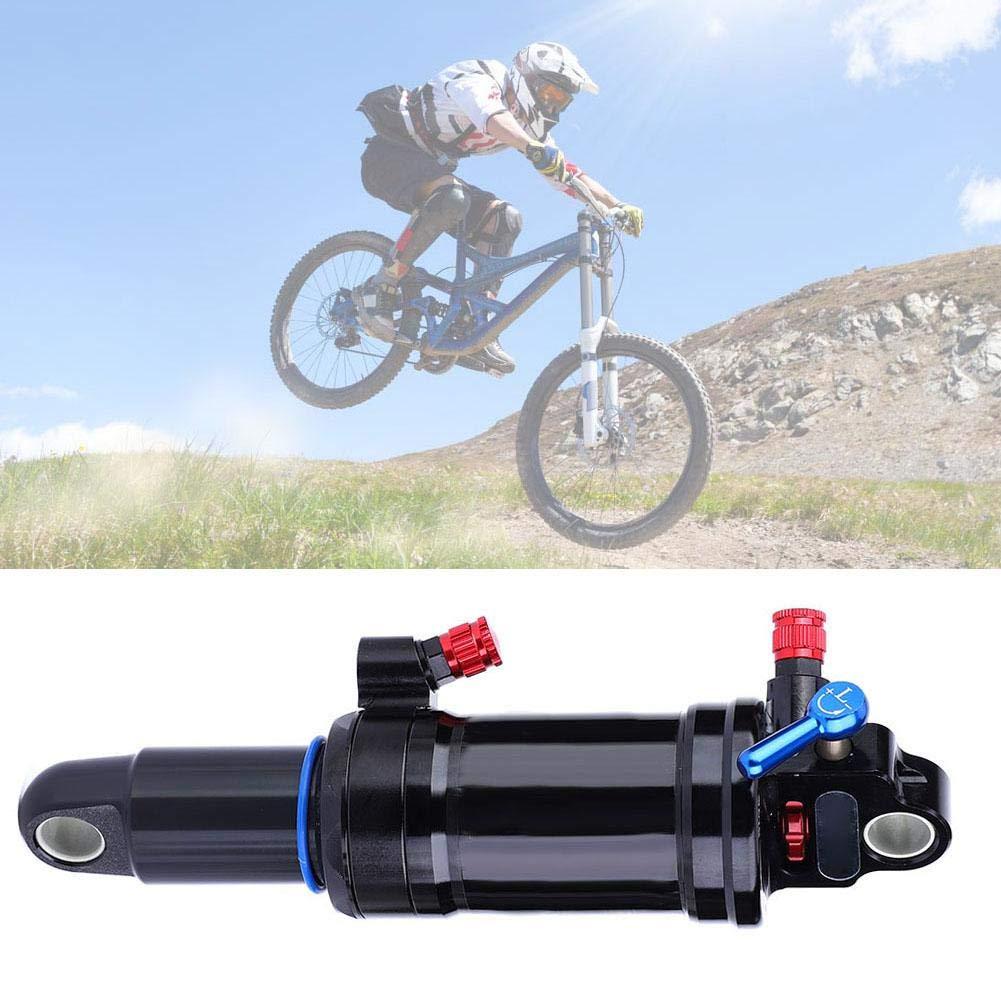 Suspensi/ón de amortiguadores Traseros de Acero Negro para Bicicleta de monta/ña con Bloqueo Alomejor