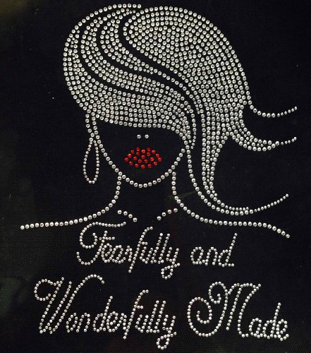 Fearfully and Wonderfully made Glamour Girl Rhinestone Transfer Iron On