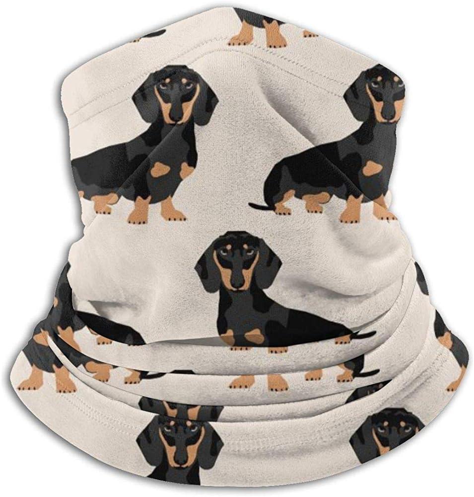 Vince Camu Calentador de Cuello de vellón-Doxie Dachshund Weiner Perro Mascota Perros Collar de Polaina,pañuelo,máscara,Diadema y Gorro