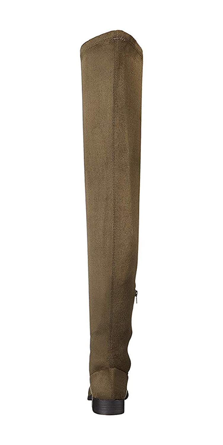 352c02b283a Lust For Life LFL Rank Elusive Rebel Over-The-Knee Thigh High Flat Fiited  Boots