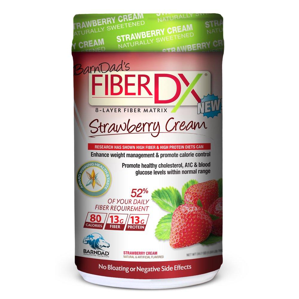 Barn Dad Nutrition Fiber-DX Cream Supplement, Natural Strawberry, 620 Gram