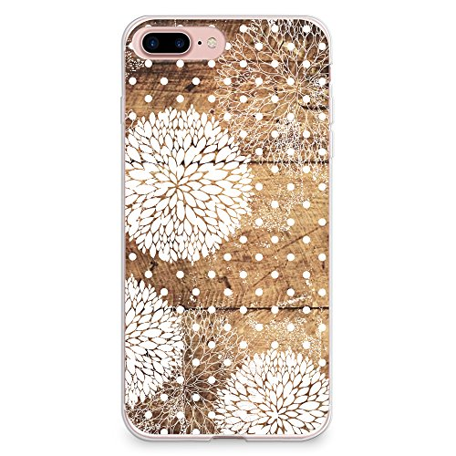 CasesByLorraine iPhone 8 Plus Case, iPhone 7 Plus Case, Wood Print Floral Pattern Polka Dots Case Flexible TPU Soft Gel Protective Cover for Apple iPhone 7 Plus & iPhone 8 - Dots Polka Colorful Cover