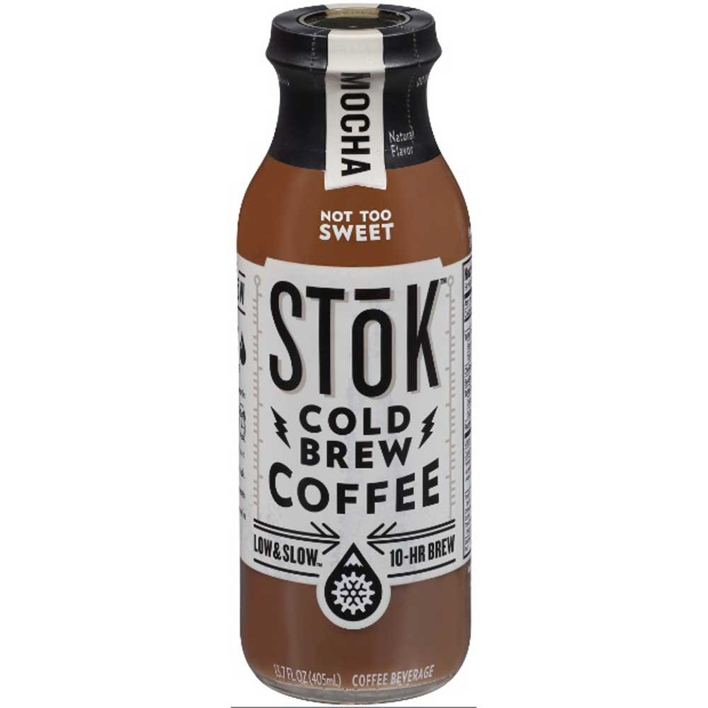 SToK Mocha Cold Brew Iced Coffee, 13.7 Fluid Ounce - 12 per case.
