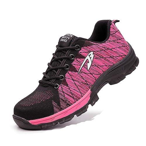 Zapatos de Seguridad Hombre S3 Zapatos de Trabajo con Puntera de Acero Prevención de Pinchazos Zapatos Unisex: Amazon.es: Zapatos y complementos