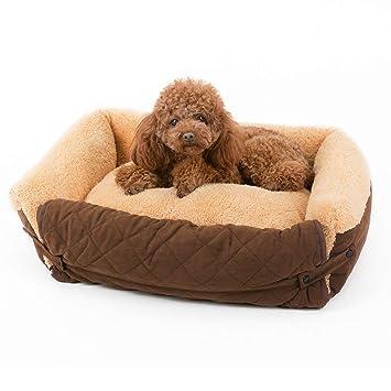 Cojín de cama de perro caliente para mascotas Cama para perros pequeños: cama para perros hipoalergénica: ...