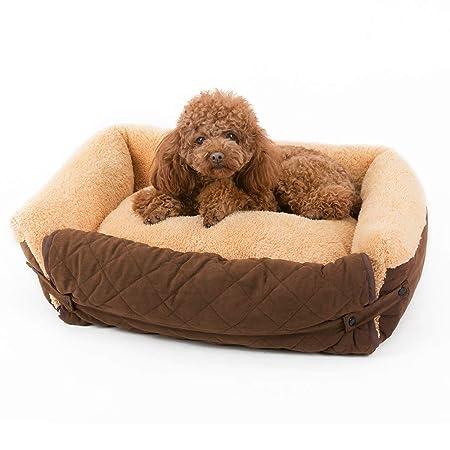 Cojín de cama de perro caliente para mascotas Cama para perros pequeños: cama para perros hipoalergénica: cabello dorado que se puede lavar en perros ...