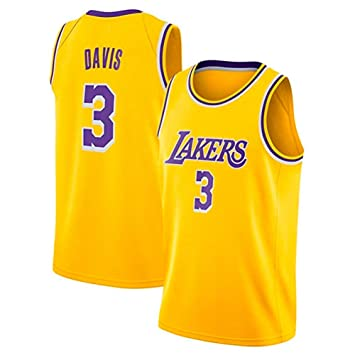 #3 Anthony Davis Lakers Jersey A-lee Herren Basketball Trikots NO.3 Anthony Davis,Swingman /Ärmelloses Top F/ür Herren Und Unisex