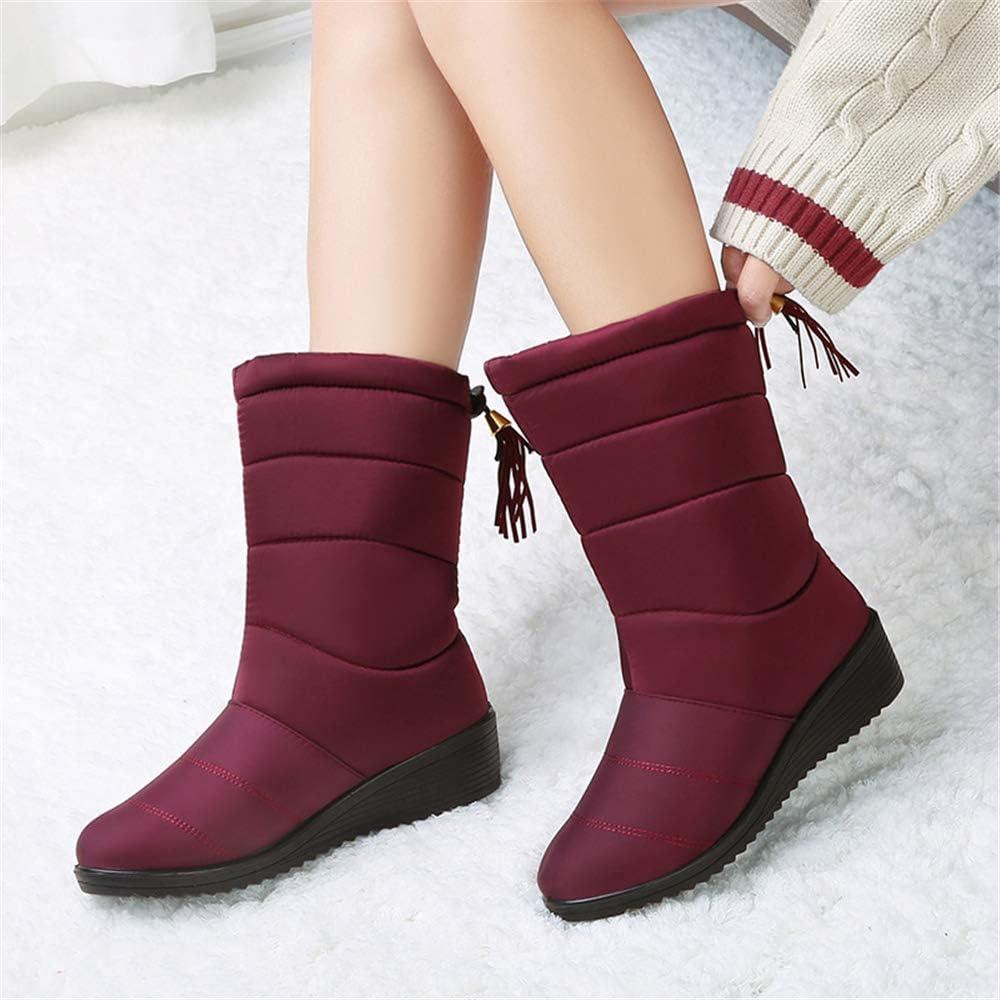 satisfied Women Slip On Waterproof Outdoor Anti-Slip Fur Lined Ankle Snow Boots