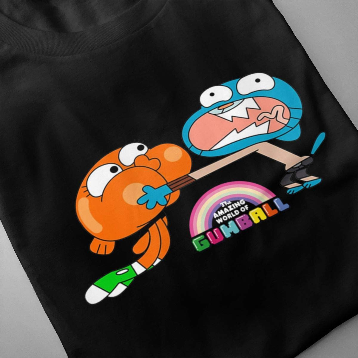 Smooffly Men The Amazing World of Gumball Brother Comfortable Crew Neck Short Sleeve Top