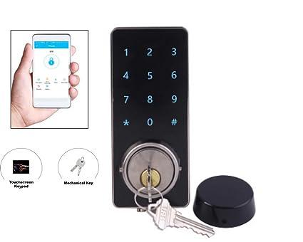 Jsmartlocker - Bloqueo de puerta electrónico digital para Bluetooth conectado con teclado y teclas de pantalla