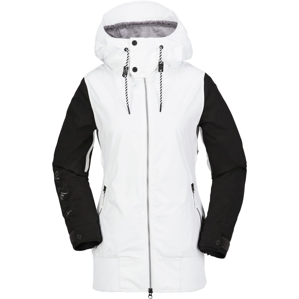 Volcom Junior's Stave 2 Layer Shell Snow Jacket, White, Large