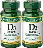 Nature's Bounty, Ultra Strength D3-10,000 IU, 72 Softgels (2pack)