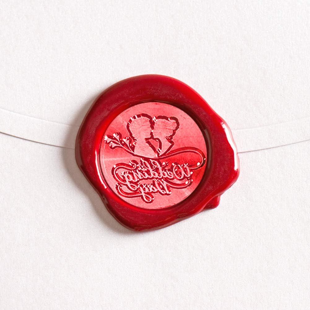 Amante Demiawaking Timbro Sigillo Ceralacca Matrimonio Stile Vintage Timbro Ceralacca Personalizzato Matrimonio DIY Decorazioni per Biglietto dinvito Buste Lettere Fai da te