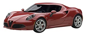 AUTOart 70189 1/18 Composite Die-Cast: Alfa Romeo 4C, Alfa Red, Composite