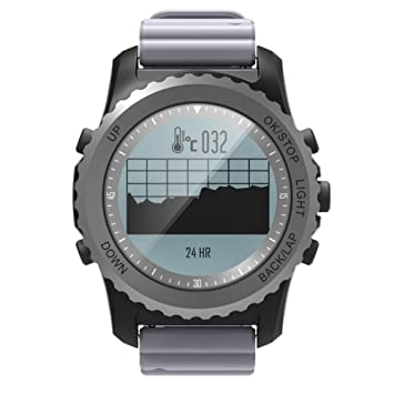 OOLIFENG GPS Al Aire Libre Reloj Aventurero Relojes Incluye Brújula/Barómetro/Termómetro Funciones para Triatlón Alpinismo Excursionismo, Gray: Amazon.es: ...
