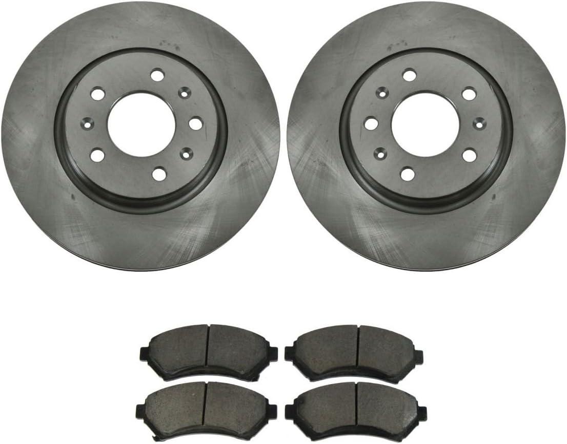 Rear Ceramic Disc Brake Pads /& 2 Rotors Left /& Right Set Kit for 04-09 Caddy SRX